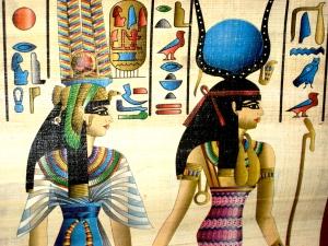 Original Color Painting on Papyrus © Official PR Picture for Susan Elsa´s Music Releases 2010-2011