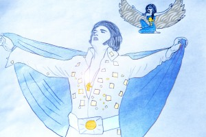 Elvis applying spiritual style to his performance