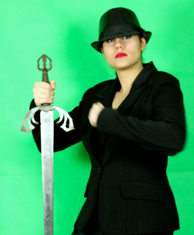 Susan Elsa carries Archangel Michael's Sword 777