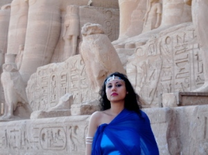 Susan Elsa at original Nefertiti Temple in Egypt 2010. Photo Shooting for Album I REMEMBER