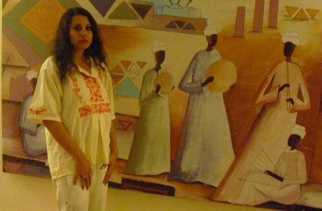 Susan in Egypt recording Innocence Osiris Michael Jackson Song 2010