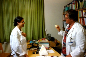 Susan Elsa with Dr Peter Brugger (Science meets IsIs Short Film 2011)