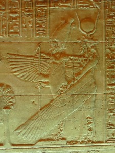 IsIs embraces Osiris with her Wings