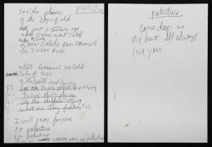 "Michael Jackson Hand Note ""Palestine"" Poem"