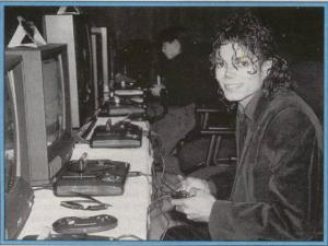 Michael Jackson playing Video Games (Photo for Educational Purpose)