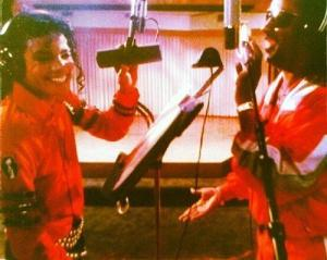 Michael Jackson Recording with Stevie Wonder Late 1980´s