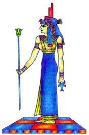 Original IsIs Symbols & Throne on Head