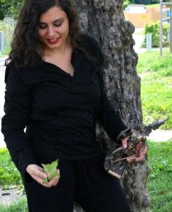 Susan Elsa: Fun Posing 2012 with Archangel Michael Statue