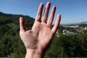 Susan Elsa Hand Close Up (Palm)