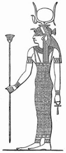 Hathor depicted with the Cow Horns. These were symbol of her, just like Horus, lifting up the Sun into the Sky and keeping it there, cheering up, celebrating, dancing. Horus/Hathor cheered IsIs up when Osiris was killed, that is the whole point of the TRUE FACTS.