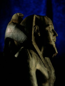 This right here is a Statue that fits to the Article a lot, for Educational Purposes. A King and Horus: Look at Horus BIRD PERSPECTIVE as if SUPPORTING the Kind´s Oversight