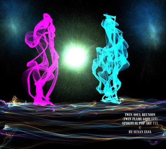 Twin Soul Reunion: Spiritual Pop Art 777 © by Susan Elsa