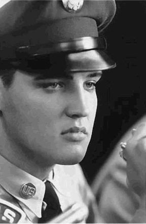 "Elvis Presley in 1958: This is how he stared when meeting his identical feminine counterpart in Heaven- his Twin Soul he called ""perfect Woman"" PHOTO FOR EDUCATIONAL PURPOSE ONLY (Fair Use)"
