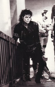 Michael Jackson´s BAD Short Film : The Stairway Pose (PHOTO FOR EDUCATIONAL PURPOSE)
