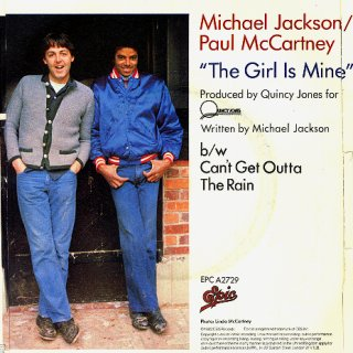 Photo Original Cover LP from THE GIRL IS MINE (1982)- for Educational Purpose Only