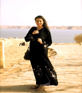 "Susan Elsa in Egypt- Abu Simbel Temple near Aswan November 2010 © The ""I REMEMBER"" Production Journey"