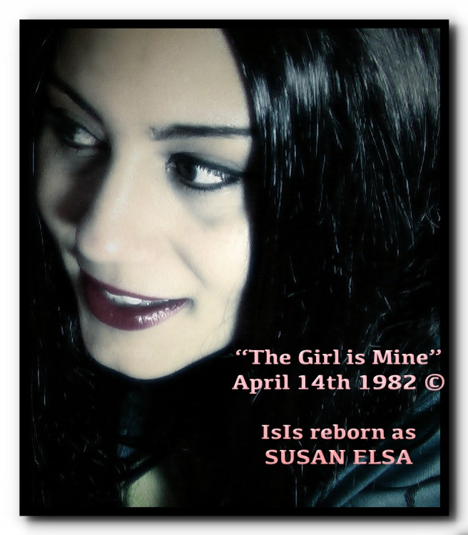 Michael Jackson told Susan Elsa that he remembers April 14th 1982 and that he began officially recording Thriller on this magical, beautiful Day (his words)- THE GIRL IS MINE © Susan Elsa is born parallel