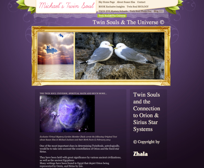 Official Michael Jackson Twin Soul Website © Two Birds Poem Design