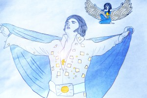 "C.D. (Channeled Drawing) from the published Elvis Book- ""Elvis channels IsIs in the 1970´s"" © 2012"