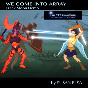 WE COME INTO ARRAY Official PR Poster OFFICIAL © Project directed by Susan Elsa- MICHAEL VS. Satan AT THE BERMUDA TRIANGLE
