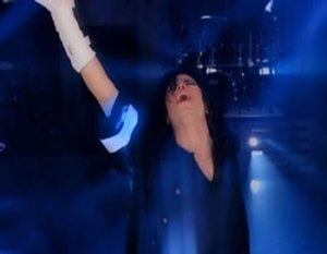 Video Still from GIVE INTO ME Video by Michael Jackson for educational and documentary Purpose
