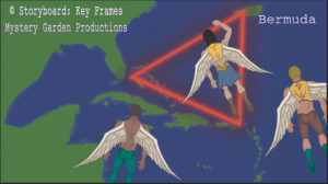 Storyboard Key Frames OUT OF BODY ARCHANGEL PERSPECTIVE by Susan Elsa ©