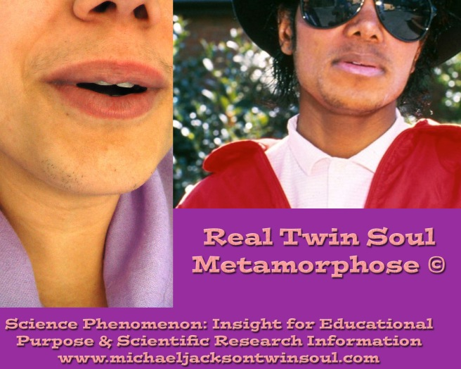 REAL TWIN SOUL METAMORPHOSE EVIDENCE BEARD STUBBLES MJ © Michael Jackson & Susan Elsa becoming ONE
