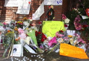 Love & Compassion: MJ Fans flock with Flowers to Parents House in Encino