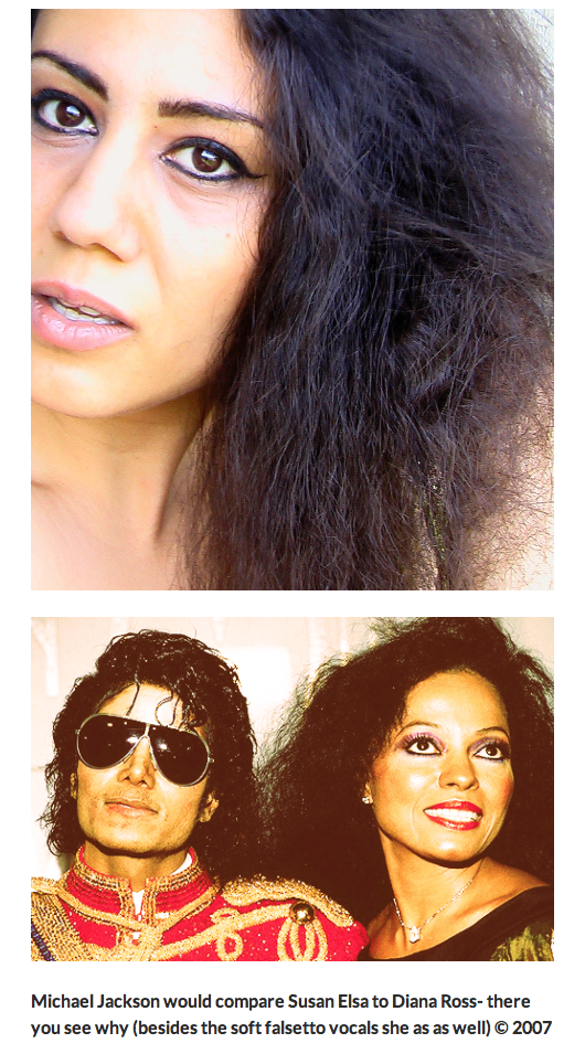 Michael Jacksons Egyptian Diana Ross Susan Elsa ©