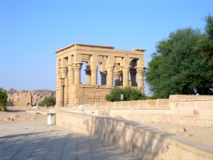 Right side from Entrance Area of Philae Temple Site: Roman Plagarism of ancient Egyptian Temples