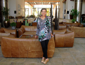 """Susan Elsa in Hotel Lobby at """"Hot Eye"""" (Ayn El Sokhna) - A Place near Cairo with 2 natural geothermal Sources called """"Eyes"""""""