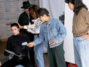 Michael Jackson filming DREAMS a Pepsi Commercial feat. a Mystery Woman