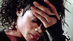 Michael Jackson during a Break in the Making of BAD- the Short Film