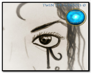 Official Logo for the TWIN EYE © Mystery Schools- Virtual Mystery Garden World Exclusive *