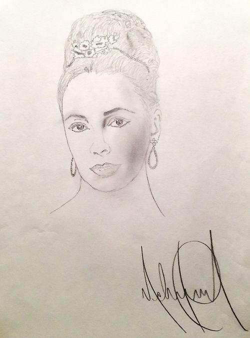 Elizabeth visits Susan Elsa starting in 2012 after her Ascension assisted by Michael and Twin Soul Susan Elsa: Elizabeth Taylor drawing by Michael Jackson for educational Purpose