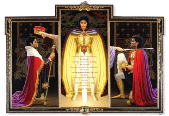 MICHAEL JACKSON ARCHANGEL POSE NEVERLAND PAINTING
