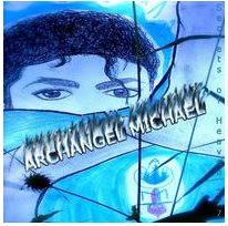 Archangel Michael- Secrets of Heaven 777 © Album Cover Drawing Original with BLUE VEIL