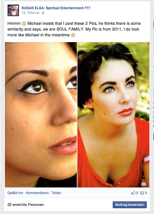 12th February 2014: Susan Elsa Original Information about Elizabeth Taylor through Michael Jackson © NO Re-Use or Imitations allowed- respect Elizabeth!