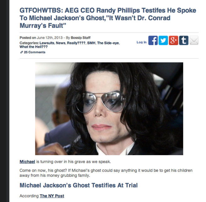 AEG: Michael Jackson Ghost Claims in Court Trial and mocking of his Soul /Twin Soul
