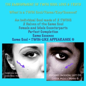 The Embodiment of Twin Soul Truth © Michael Jackson and Susan Elsa Twin Flame Soul Original Real Data Information