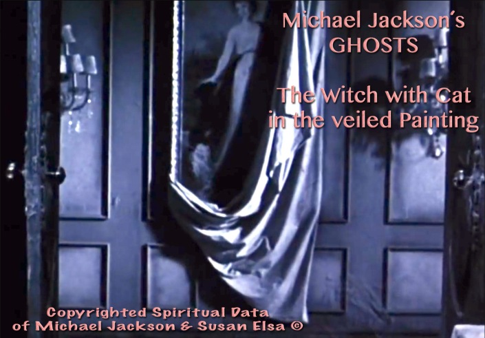 Michael Jackson´s Ghosts Movie: The Hidden Painting Message © Witch with White Cat-Symbols of Original Ancient Egyptian Witch Susan Elsa Magic Love Angel IsIs Twin Soul Ray Flame Mate Tree