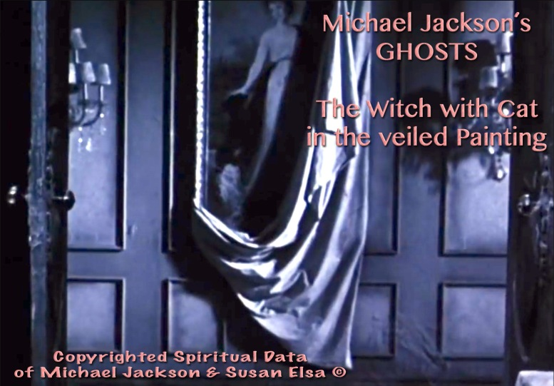 Michael Jackson´s Ghosts Movie: The Hidden Painting Message © Witch with White Cat-Symbols of Original Ancient Egyptian Witch