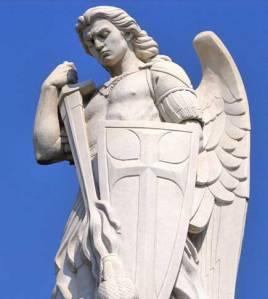 Archangel Michael Statue for educational Reasons