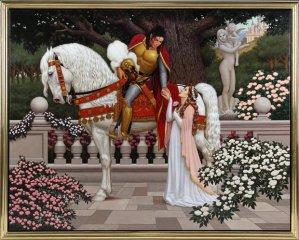 Knight Archangel Michael Style: Michael Jackson Painting Lisa Marie Presley