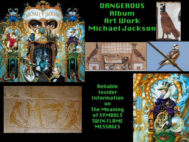 Michael Jackson Dangerous Album Art Meaning Dog Bird- OSIRIS ISIS ANUBIS © Susan Elsa Twin Flame Soul Truth Rising