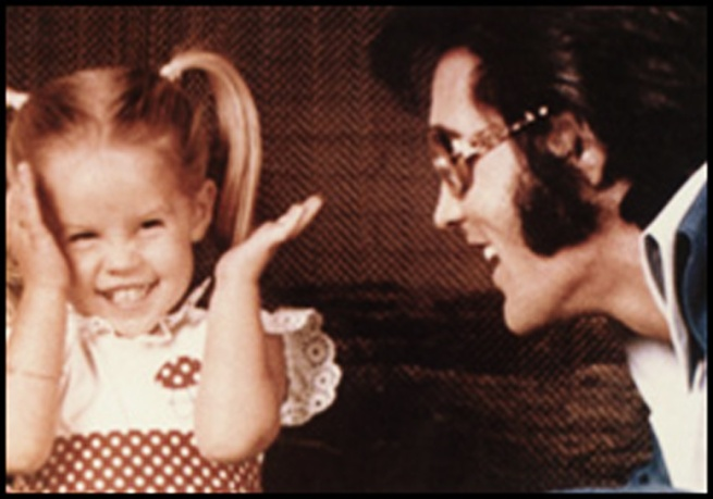 Lisa Marie and Daddy Elvis Presley