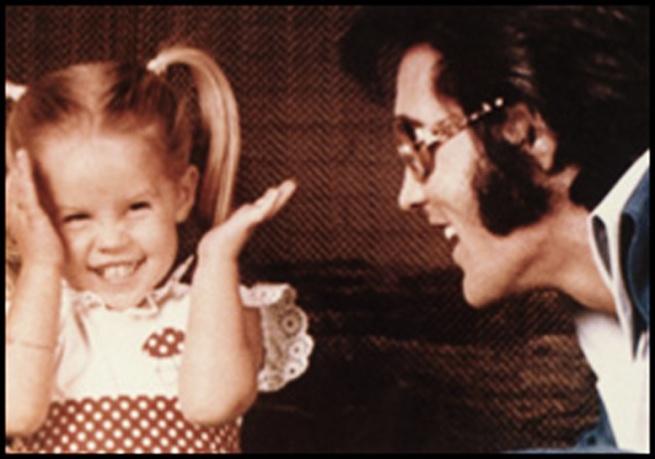 Lisa Marie and Daddy Elvis Presley