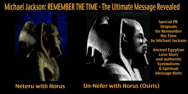 Remember the Time by Michael Jackson: Special PR Images Symbolism and Messages- Osiris Un Nefer Neteru Horus Falcon Shoulders