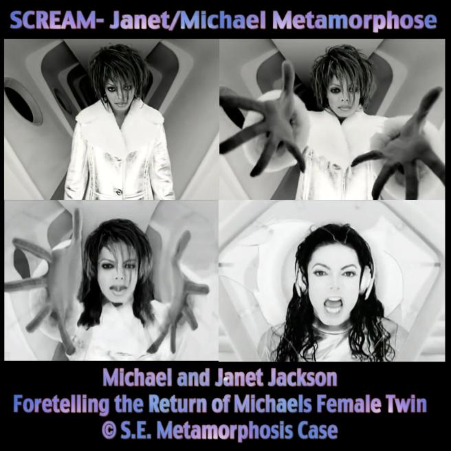 Michael Jackson Metamorphosis Scream Twin Souls Flames Premonitions feat. Janet Jackson- Song and Video Analysis and Spiritual Information Susan Elsa ©