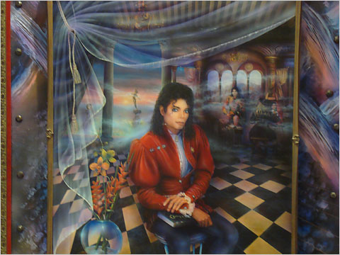 Michael Jacksons Painting he sat personally for: THE BOOK © Veil Information Susan Elsa 2010 Publications